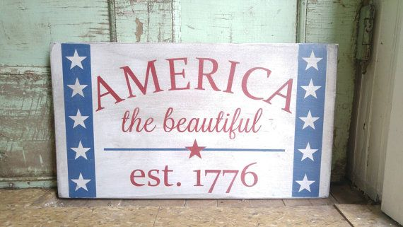 Americana Decor - Patriotic Decorations - 4th of July Ideas - Country Decor - Americana Wall Decor - Memorial Day - Fourth of July Ideas