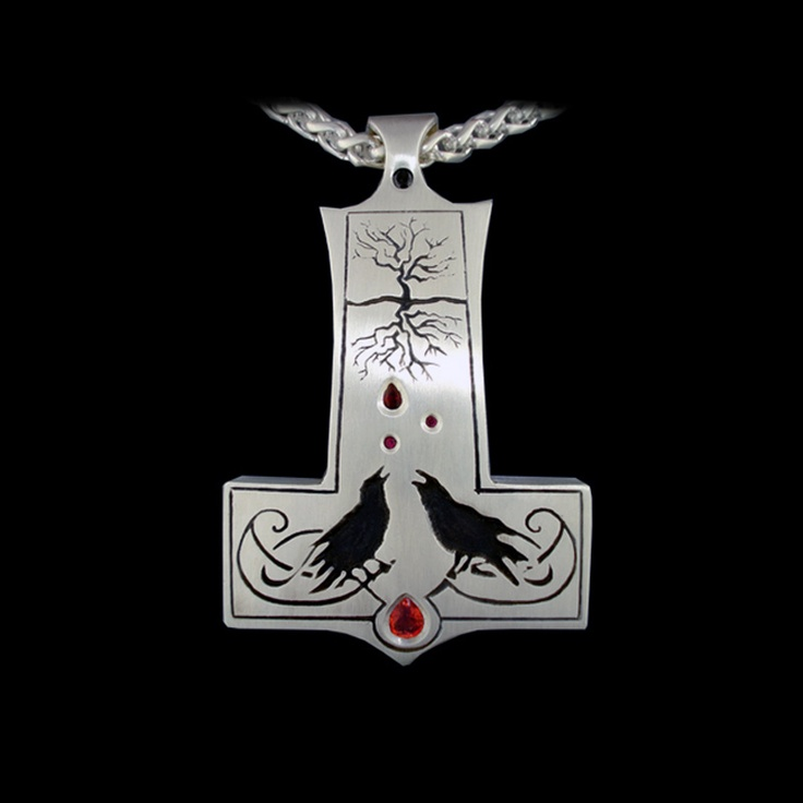 Thor's Hammer, with rubies and black diamond