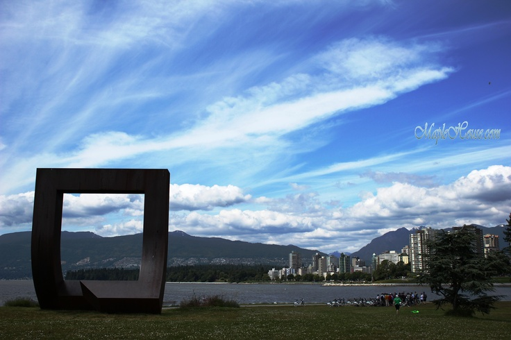 Gate to the Northwest Passage by Alan Chung. A monument in Vanier Park to commemorate Captain George Vancouver which stands guard at the entrance to False Creek. The area around the site is a favorite for kite flyers. http://app.vancouver.ca/PublicArt_net/ArtworkDetails.aspx?ArtworkID=110===