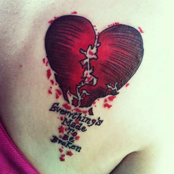 Broken Heart Tattoo   tattoo ideas   Broken heart tattoo ...