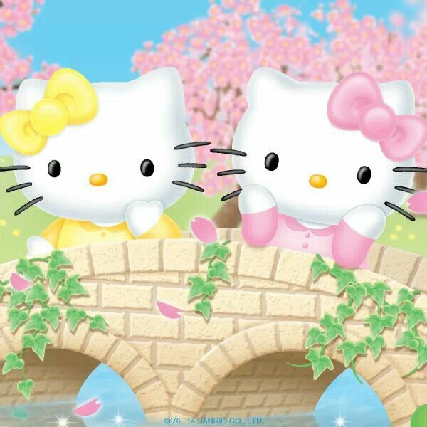 Happy Siblings Day - Hello Kitty & her twin sister Mimmy ...