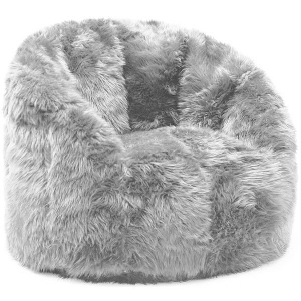 Comfort Research BeanSack Big Joe Milano Faux Fur Bean Bag Chair ($111) ❤ liked on Polyvore featuring home, furniture, chairs, teddy bear chair, oversized bean bag chairs, circular chair, round chair and oversized beanbag chair