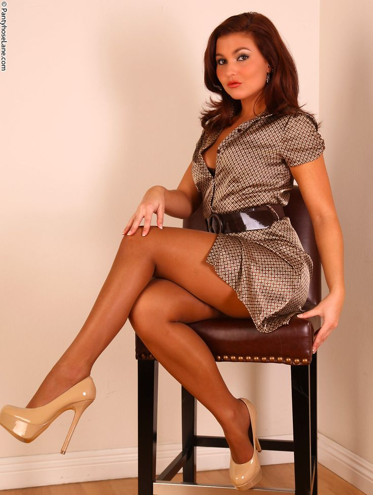 in sexual pantyhose and high