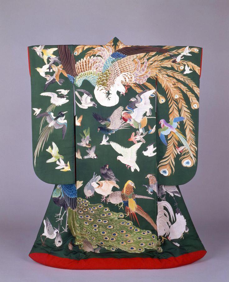 百鳥文様打掛(京都国立博物館)