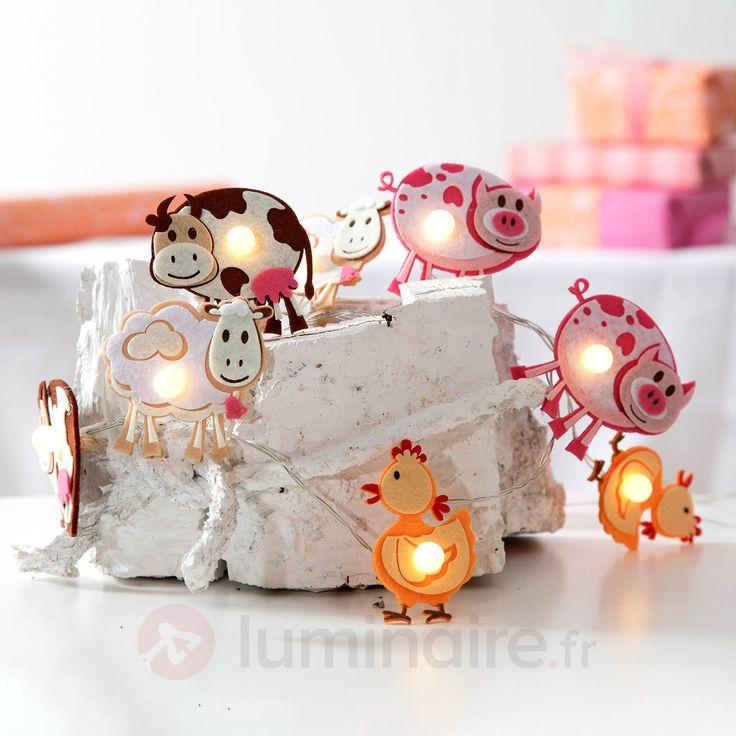 Guirlande lumineuse LED Zoolight, animaux locaux, référence 1523111 - Lampes et luminaires sur le thème de nos amis les bêtes chez Luminaire.fr !