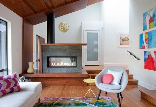 Modern Small Living Room Design Split Level House Floor