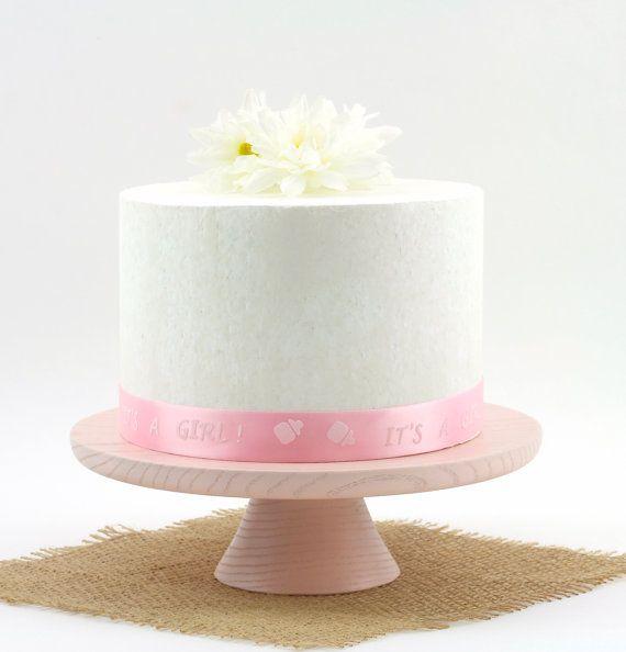 Wooden Pink Cake Stand, Pedestal Cake Stand, Smash Cake Stand Photo Prop / Pedestal Dessert Plate