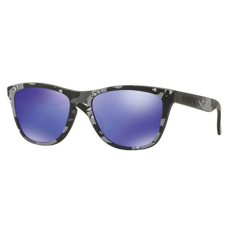 Oakley Frogskins Carbon Frame Violet Iridium 55 mm Lens Sunglasses