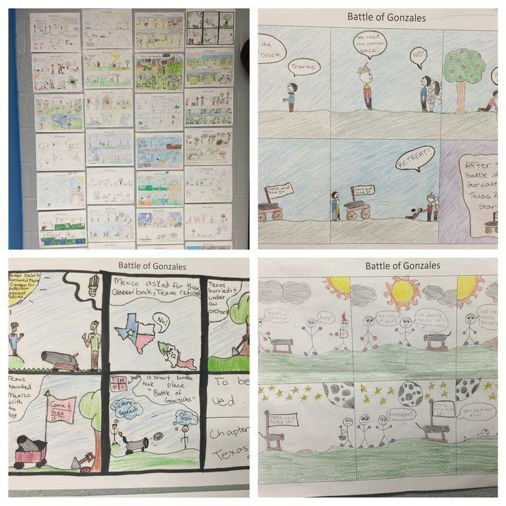 Battle of Gonzales Cartoon Strip! Students research the events surrounding the Battle of Gonzales. Then they create a cartoon strip.