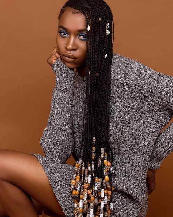 Braids with Beads for African American