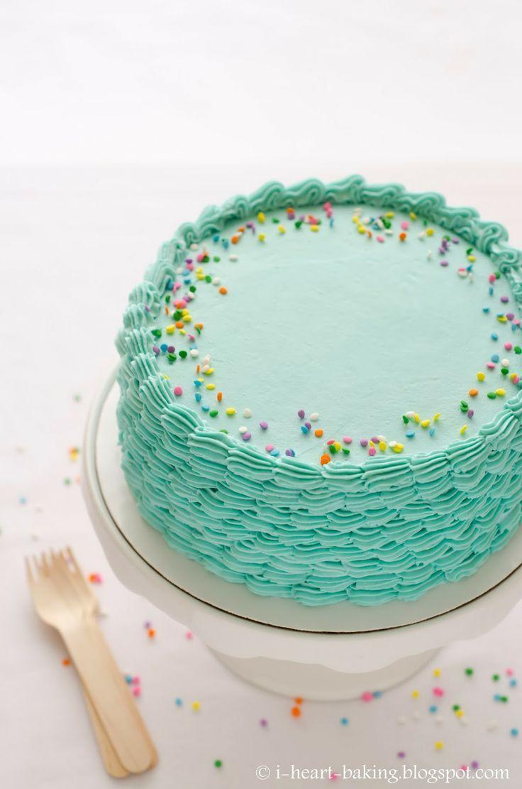 simple, pretty cake