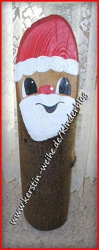 Weihnachtsmann aus Holzstamm                                                                                                                                                                                 Mehr