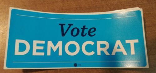 Hillary Clinton: Vote Democrat Official Campaign Bumper Sticker Hillary Clinton -> BUY IT NOW ONLY: $2.99 on eBay!