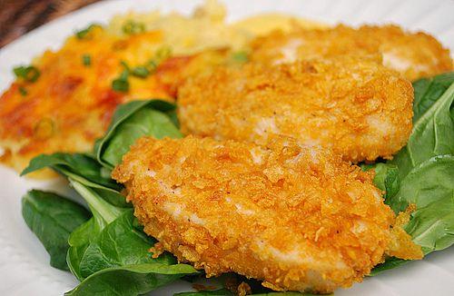 Crispy Baked Cornflake Chicken on MyRecipeMagic.com