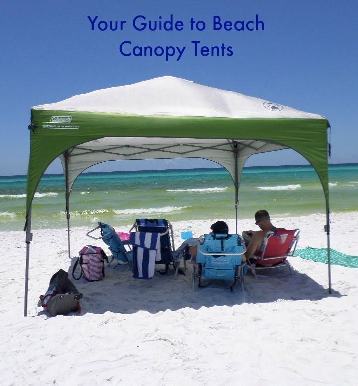 Beach canopy tents provide lots of shade and protection from the sun keeping the family all together under one piece of shade.