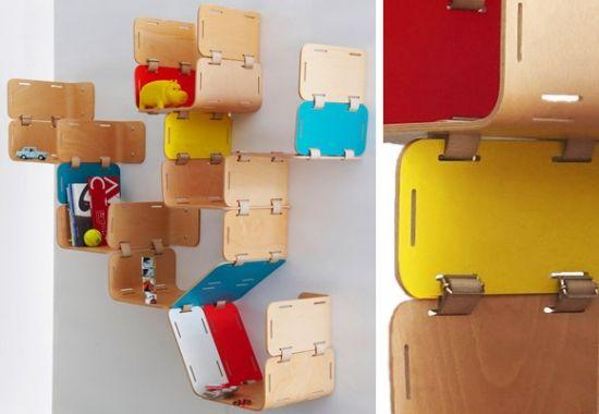 Regal system modular Wanddeko Gestaltung Möbel für Kinderzimmer