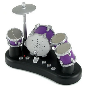 Finger drums!! $24.99 - Tiny desktop drum-set that really works! Tap with your fingers to play the drums. Record your best riff and play it back!
