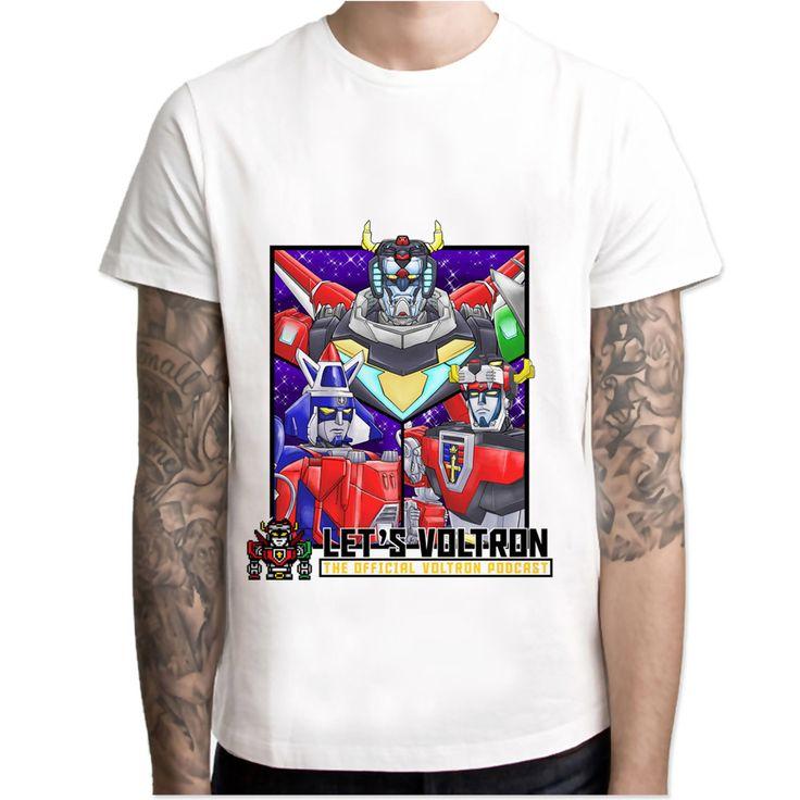 Voltron  t shirt men Summer print T Shirt boy short sleeve with white color Fashion Top Tees M7R1619 #Affiliate