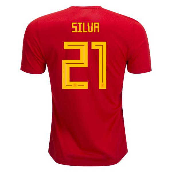 adidas David Silva Spain Home Jersey 2018