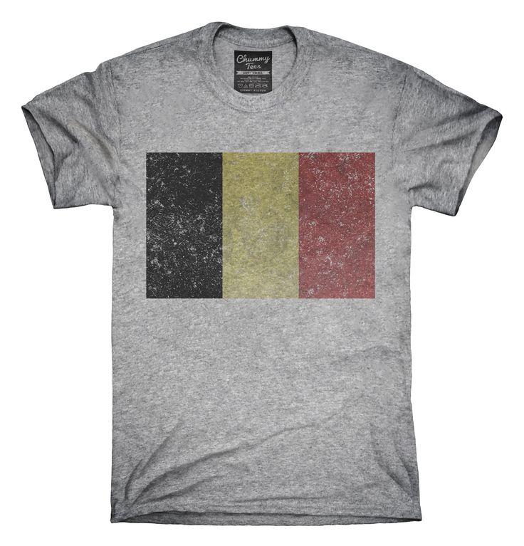 Retro Vintage Belgium Flag T-Shirts, Hoodies, Tank Tops