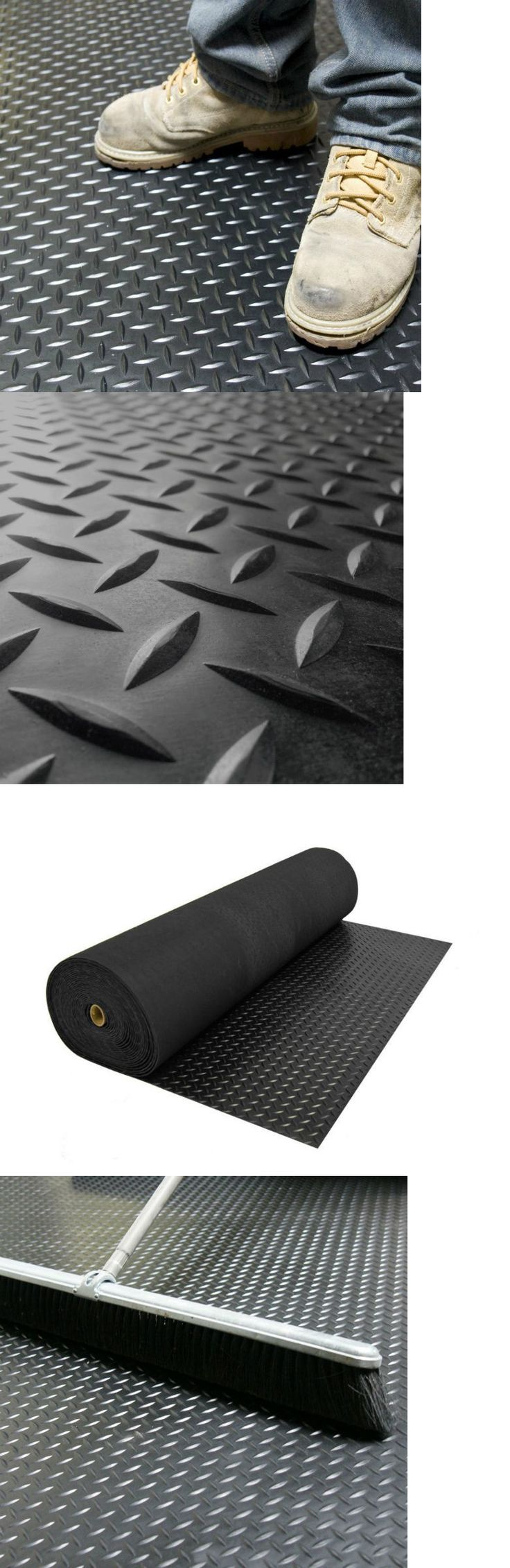 Equipment Mats and Flooring 179806: Garage Flooring Roll Out Gym Mats For Home Rubber Garage Mechanic Industrial BUY IT NOW ONLY: $69.0