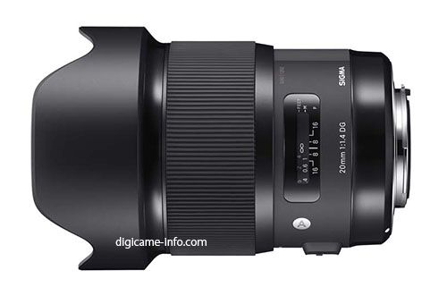 This is the upcoming Sigma 20mm f/1.4 DG HSM Art lens - expected Friday 16 Oct 2015 [photorumors.com]