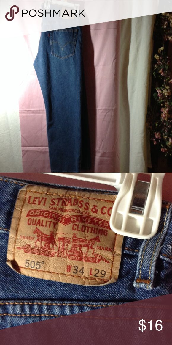 Levi's 505 Jeans Men's Levi Jeans, regular fit, 505, W34 X L29, in perfect like new condition. Levi's Jeans