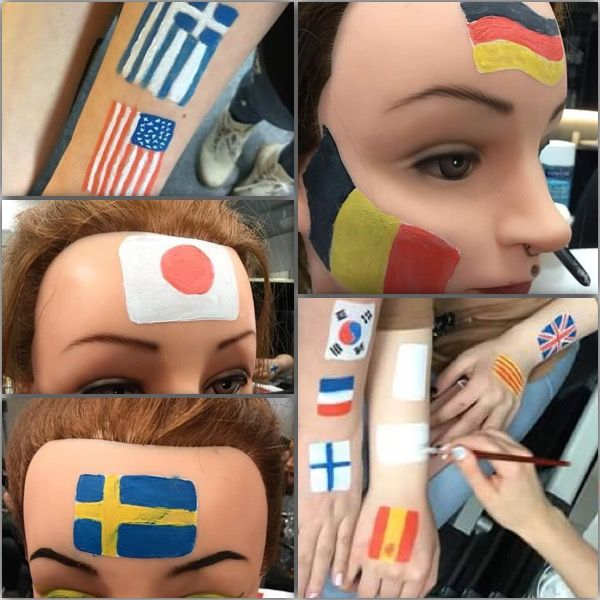 Lippujen kasvomaalausta -Anna