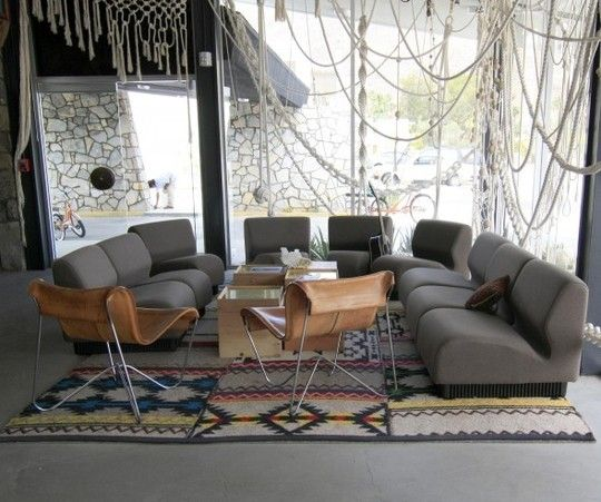 Gray Chairs and White Rope