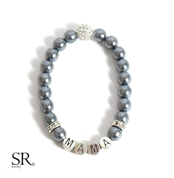 Schmuck - Beste Mama Armband Perlen Herz Weihnachtsgeschenk  - ein Designerstück von sweetrosy bei DaWanda