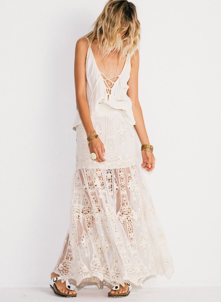 Jen's Pirate Booty Looking Glass Calypso Maxi Skirt | Nic del Mar