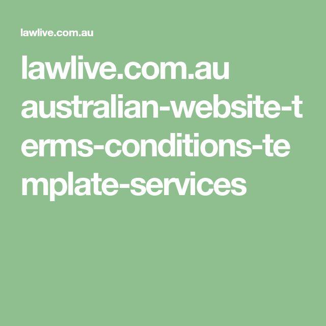 lawlive.com.au australian-website-terms-conditions-template-services