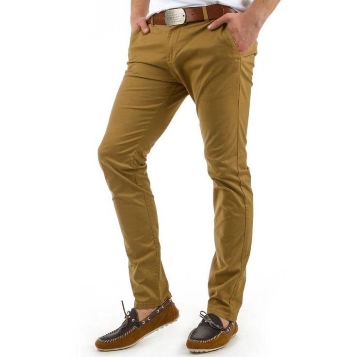 Pánske originálne nohavice pieskové