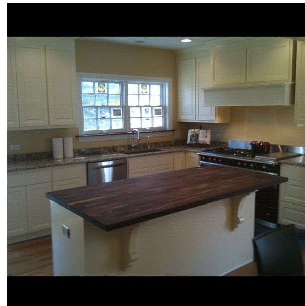 Long Butcher Block Kitchen Island : 17 Best images about Kitchen on Pinterest Bar stools with backs, Narrow kitchen island and ...