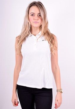 Lacoste Womens Vintage Polo Shirt Sleeveless Size 12 90's