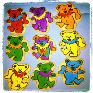 Grateful Dead Bear Cookies