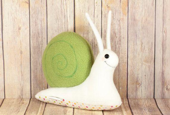 Snail Plush Toy Snail Stuffed Toy Animal  Ready by PonkiAndJeani