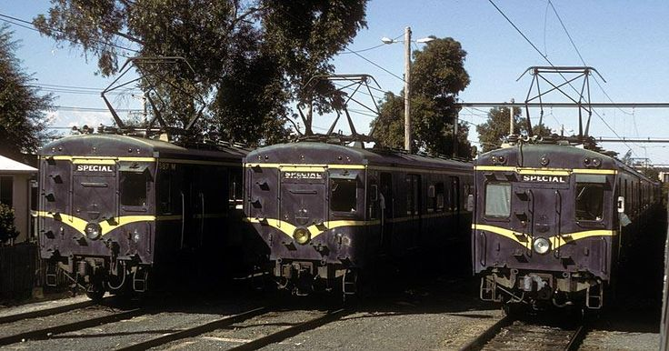 Harris trains stabled at Glen Waverley