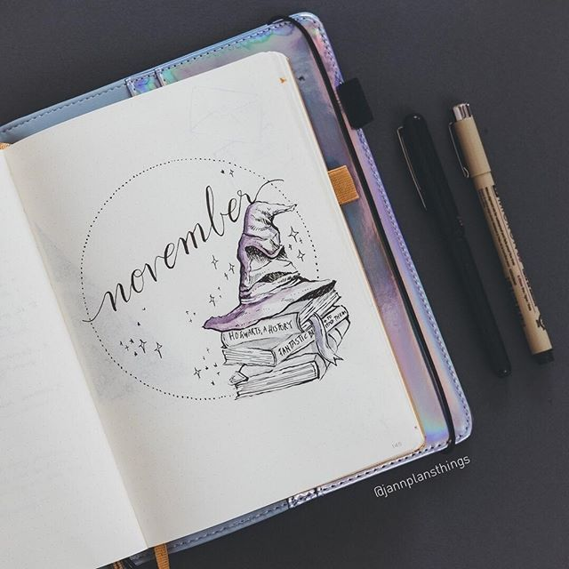 jannplansthings November is coming!!! It's my birthday month so I thought I would do something super fun... one of my favourite things - Harry Potter! I am learning to combine my love of doing pen drawings with faint watercolor washes to see how that goes.