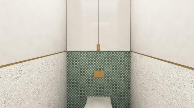 Návrh kúpeľne a toalety bytu - interiér Slnečnice, Bratislava - Interiérový dizajn / Bathroom interior by Archilab