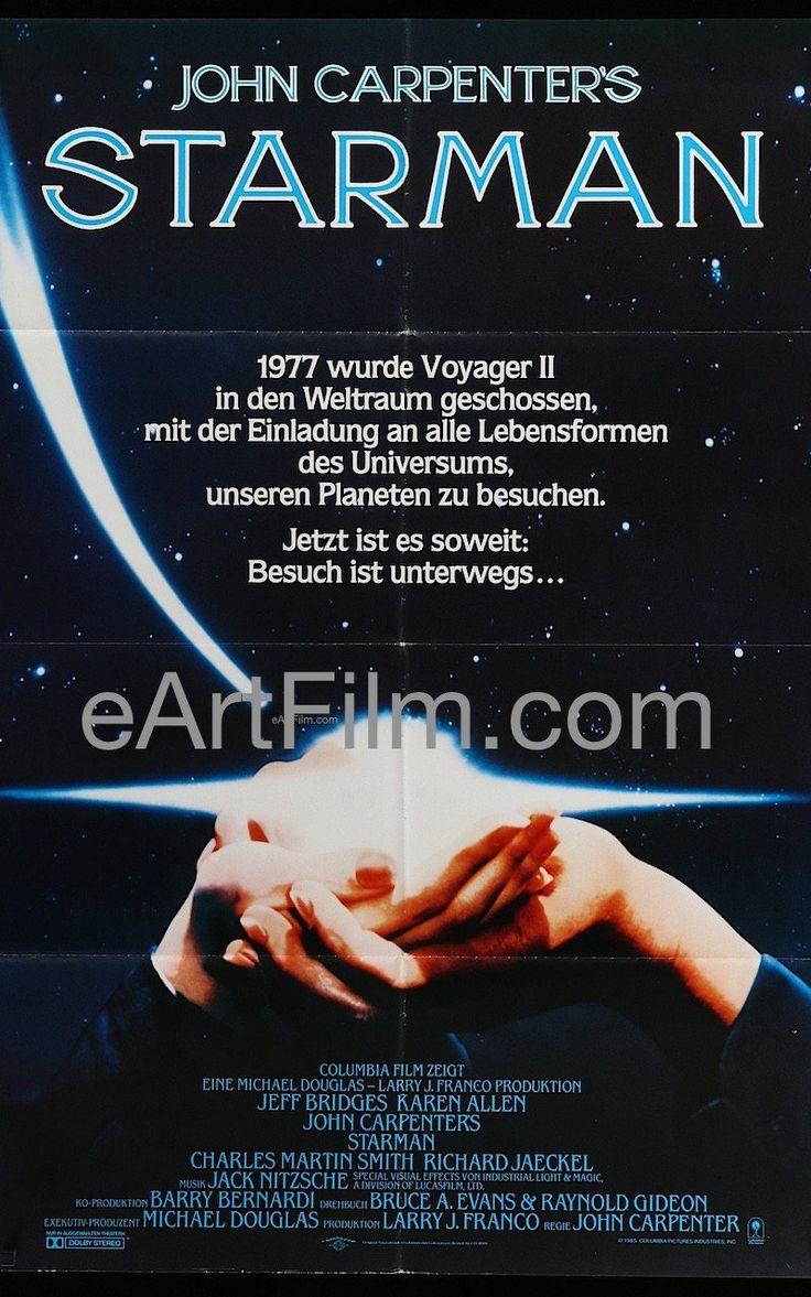 Happy Birthday #KarenAllen https://eartfilm.com/search?q=karen+allen #Raiders #RaidersoftheLostArk #AnimalHouse #Scrooged #SciFi  Starman 1985 33x47 A0 Movie Poster Germany