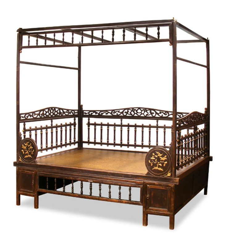 Elegant Chinoiserie of Antique Ning Bo Bed Set for Bedroom Furniture by China Furniture and Arts