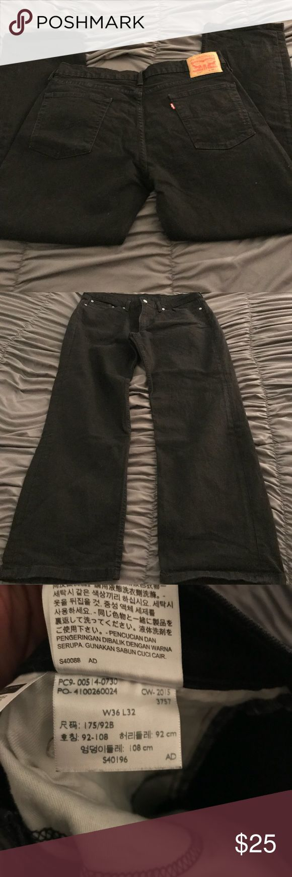 Men's black Levi jeans Slightly used men's black Levi's!! GUC! 514 style Levi's Jeans Relaxed