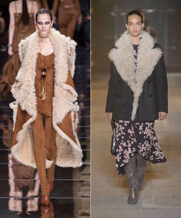 Manteau peau retournée hiver 2017-2018