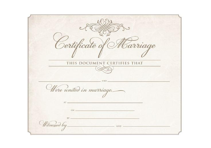 9 Best Images About Souvenir Wedding Commitment Certificates On Pinterest