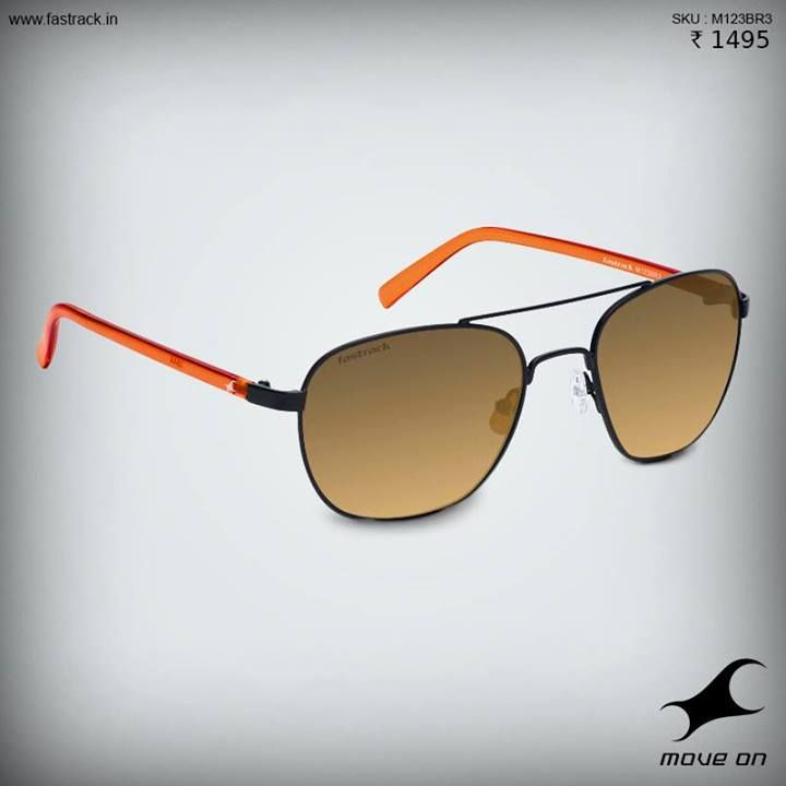 Before temperatures soar, gear up.  Get yourself one of the new Fastrack Sunglasses. #Sunglasses #Summer #Metal #Tint #Orange #Fashion #Design #Style