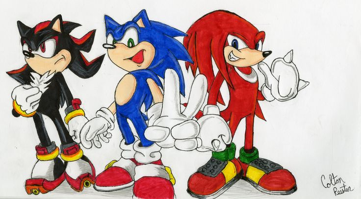 Sonic, Knuckles,and Shadow Also check out my channel at https://www.youtube.com/channel/UCGUlZLiVmo9eUn4XHzvTjxg/videos