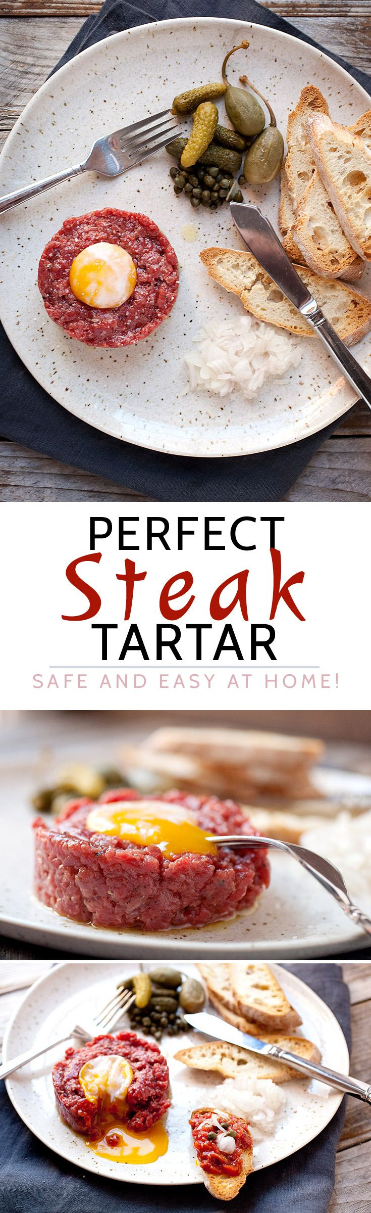 Perfect Steak Tartare at Home! Here's how to make the classic French appetizer SAFELY at home! It's really easy with a few simple tips. Stop over-paying for it in fancy restaurants!   macheesmo.com