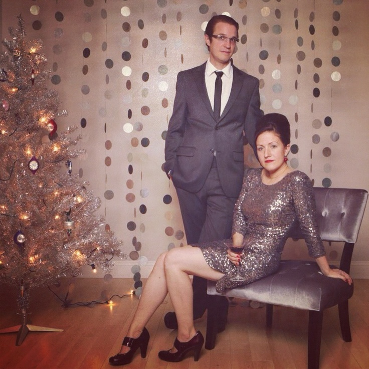 Retro Christmas Party Ideas Part - 42: Mad Men 1960s Inspired Christmas - Skinny Tie And Sequin Dress - Copyright  Genevieve Nisly Photography · Retro ChristmasChristmas PartiesDiy ...