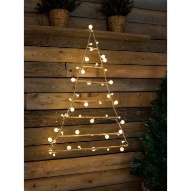 Konstsmide LED kerstboom van hout - binnen - 48 lampjes
